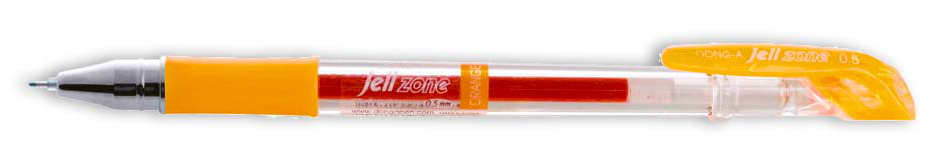 Гелевая ручка Zone 0,5мм., корпус прозр., ст. желт. Dong-A - фото 1