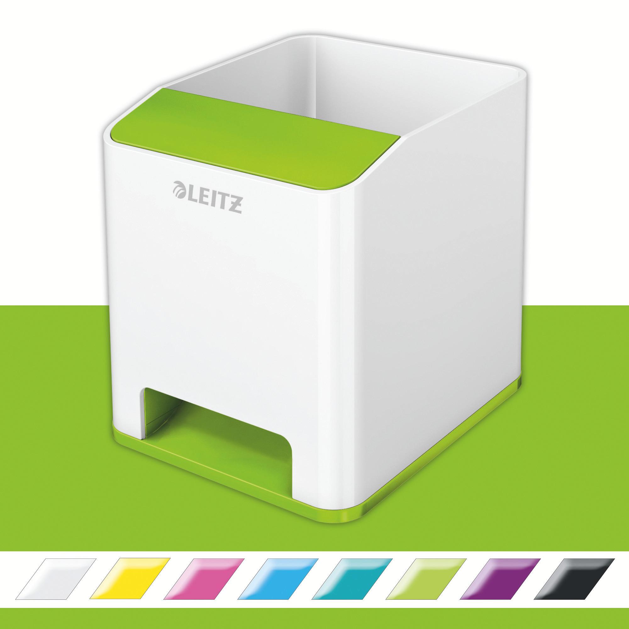 Подставка для ручек и смартфона WOW пластиковая, квадратная, зелен. LEITZ - фото 2
