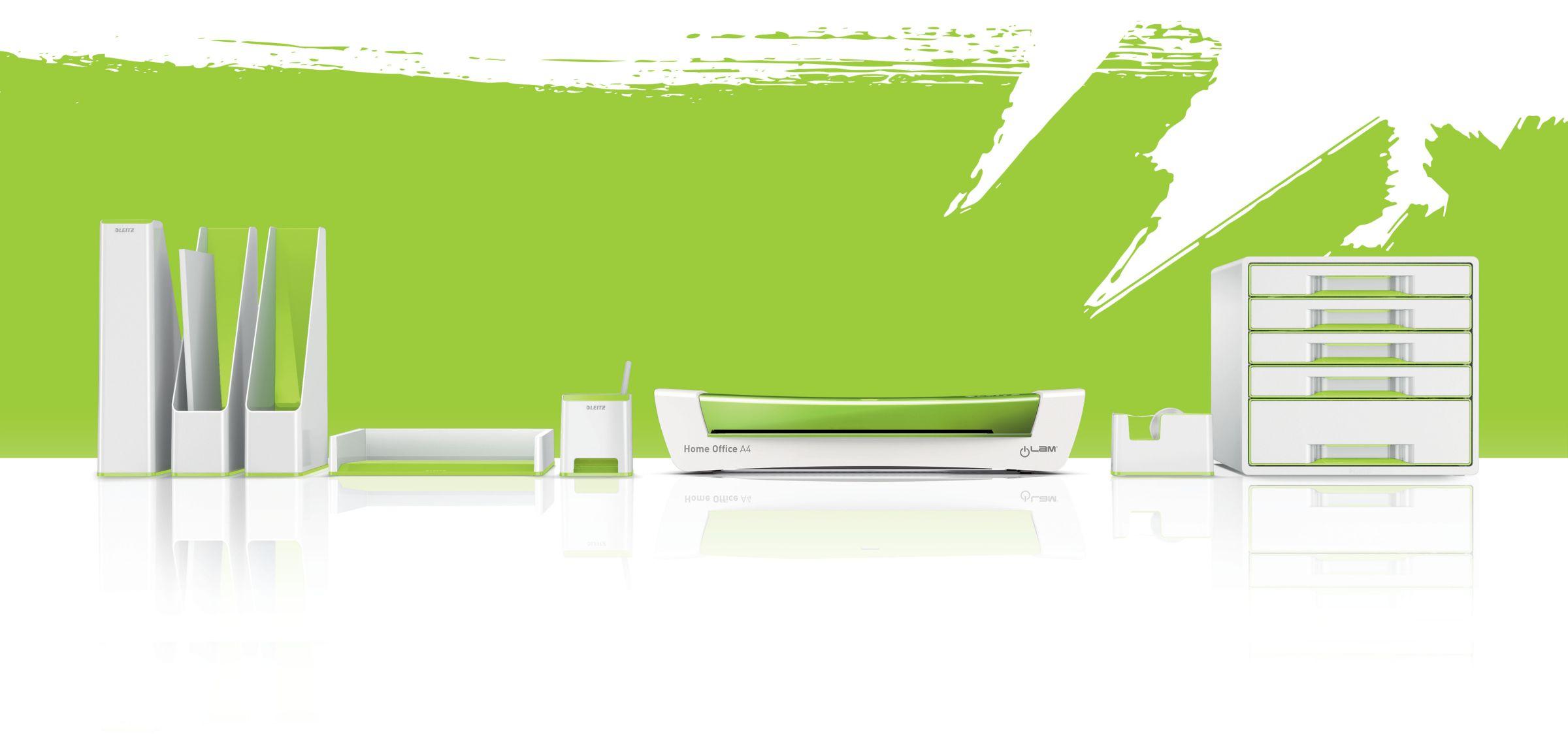 Подставка для ручек и смартфона WOW пластиковая, квадратная, зелен. LEITZ - фото 5