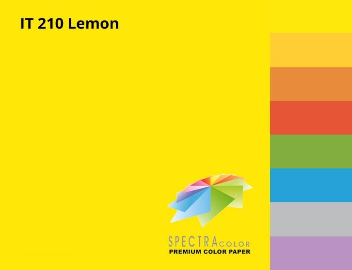 Бумага цветная Color A4 интенсив 80гр./м2. Lemon, 500листов желт. Spectra Color - фото 2