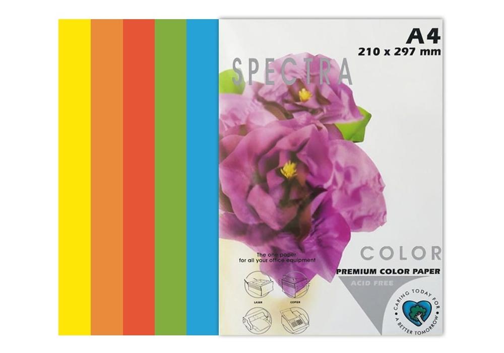 Бумага цветная Color A4 интенсив 80г./м2. Rainbow Pack Deep, 250листов, 5 цветов Spectra Color - фото 2