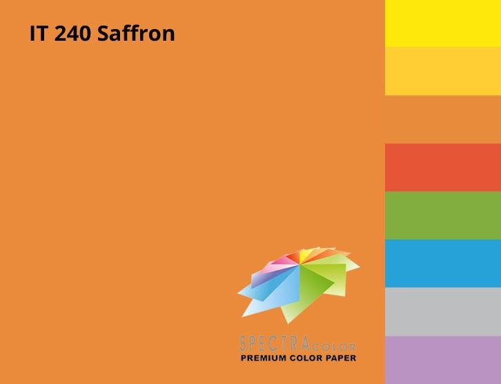 Бумага цветная Color A4 интенсив 80гр./м2. Saffron, 500листов, оранж. Spectra Color - фото 2