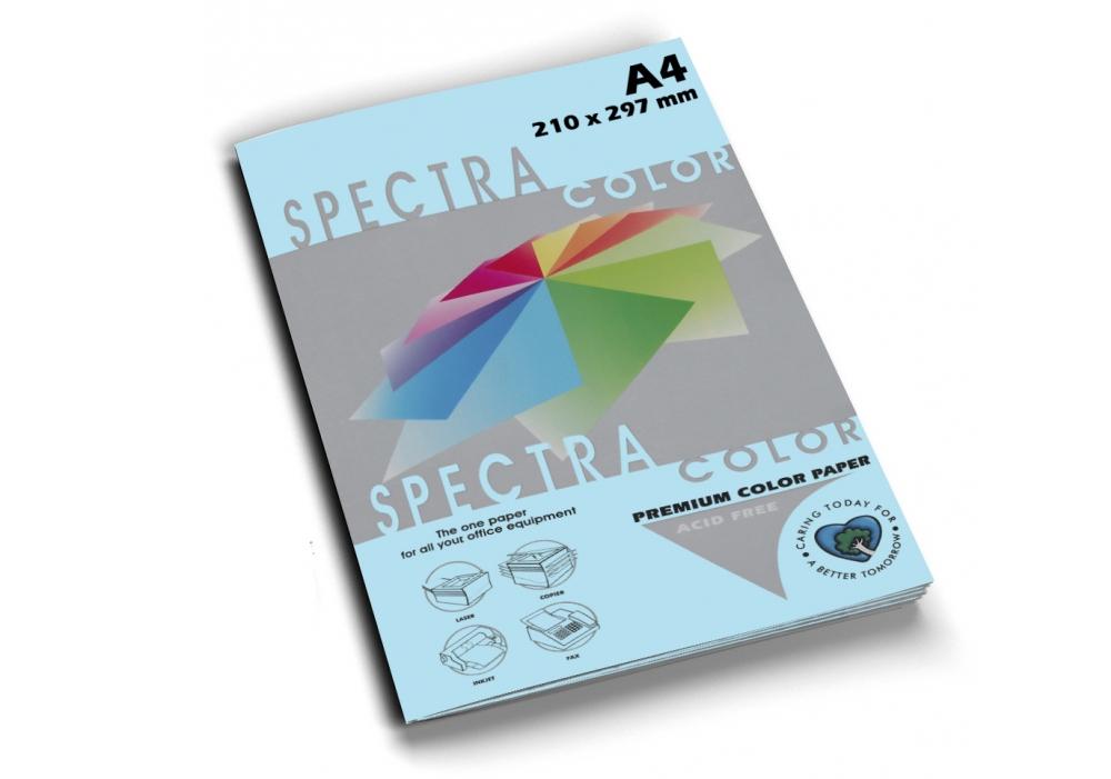 Бумага цветная Color A4 пастель 160г./м2. Ocean, 100листов, голуб. Spectra Color - фото 1