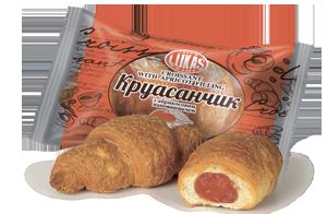 Круасанчик с абрикосовым наполнителем в индивидуальной упаковке, 1,4кг. Лукас - фото 2