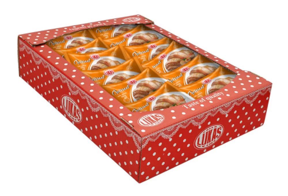 Круасанчик с абрикосовым наполнителем в индивидуальной упаковке, 1,4кг. Лукас - фото 3