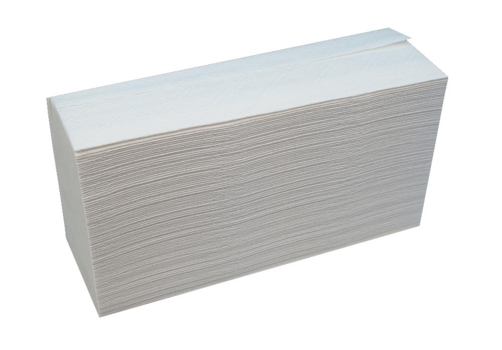 Полотенца листовые W (interfold)-складка 2-сл., целлюлоза, 144 лист.(23,5*25,5см.), бел. Katrin - фото 2