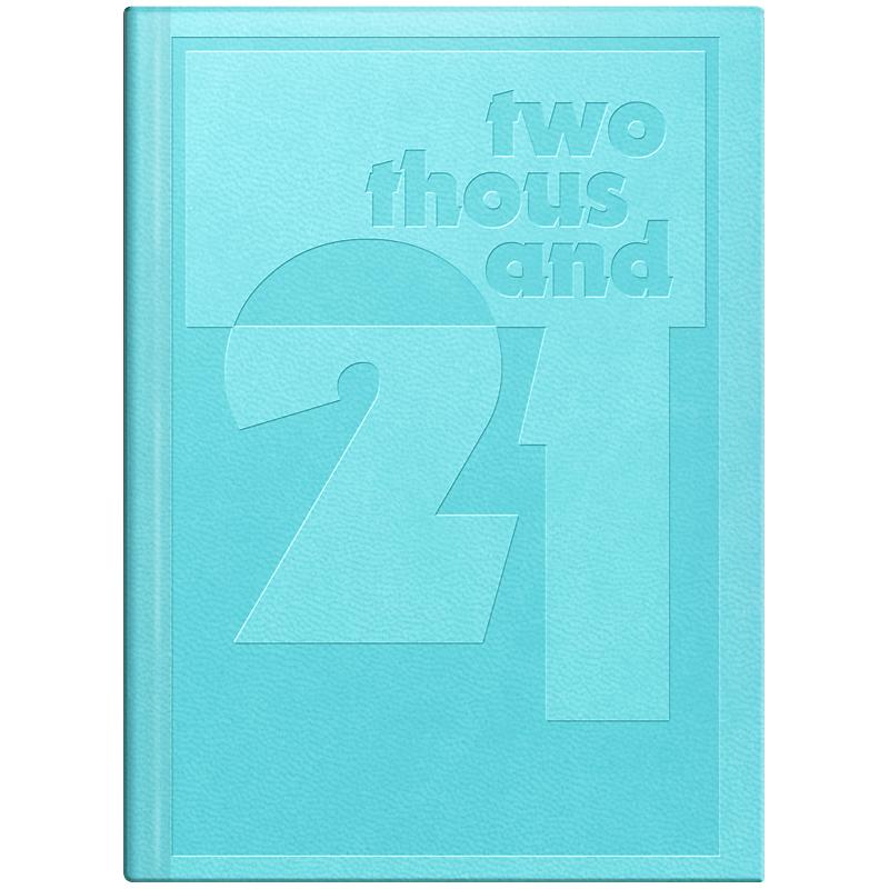 Ежедневник датированный Стандарт 2021 Torino Trend, голуб.