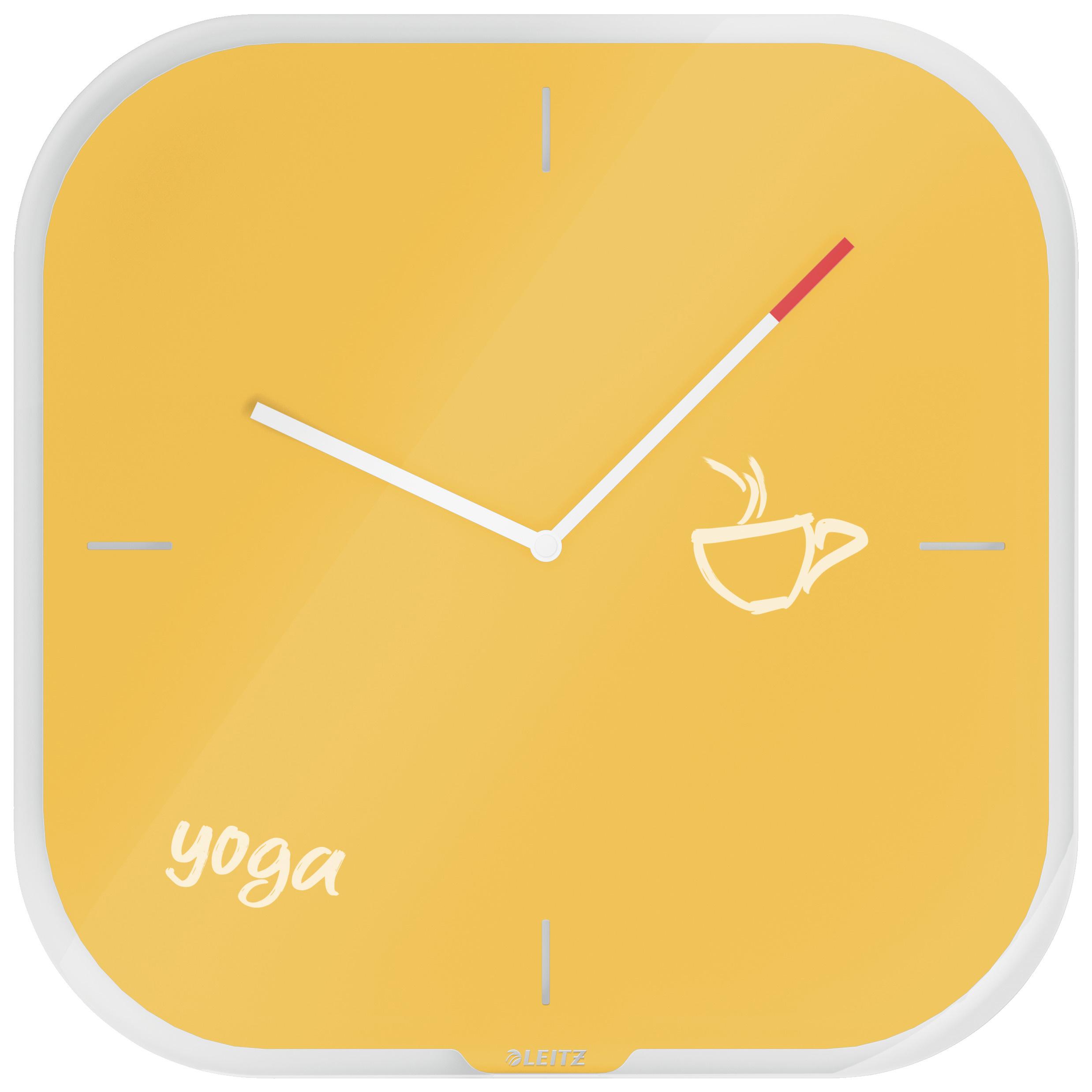 Часы настенные Cosy, квадратные, стекло, желт. LEITZ - фото 2