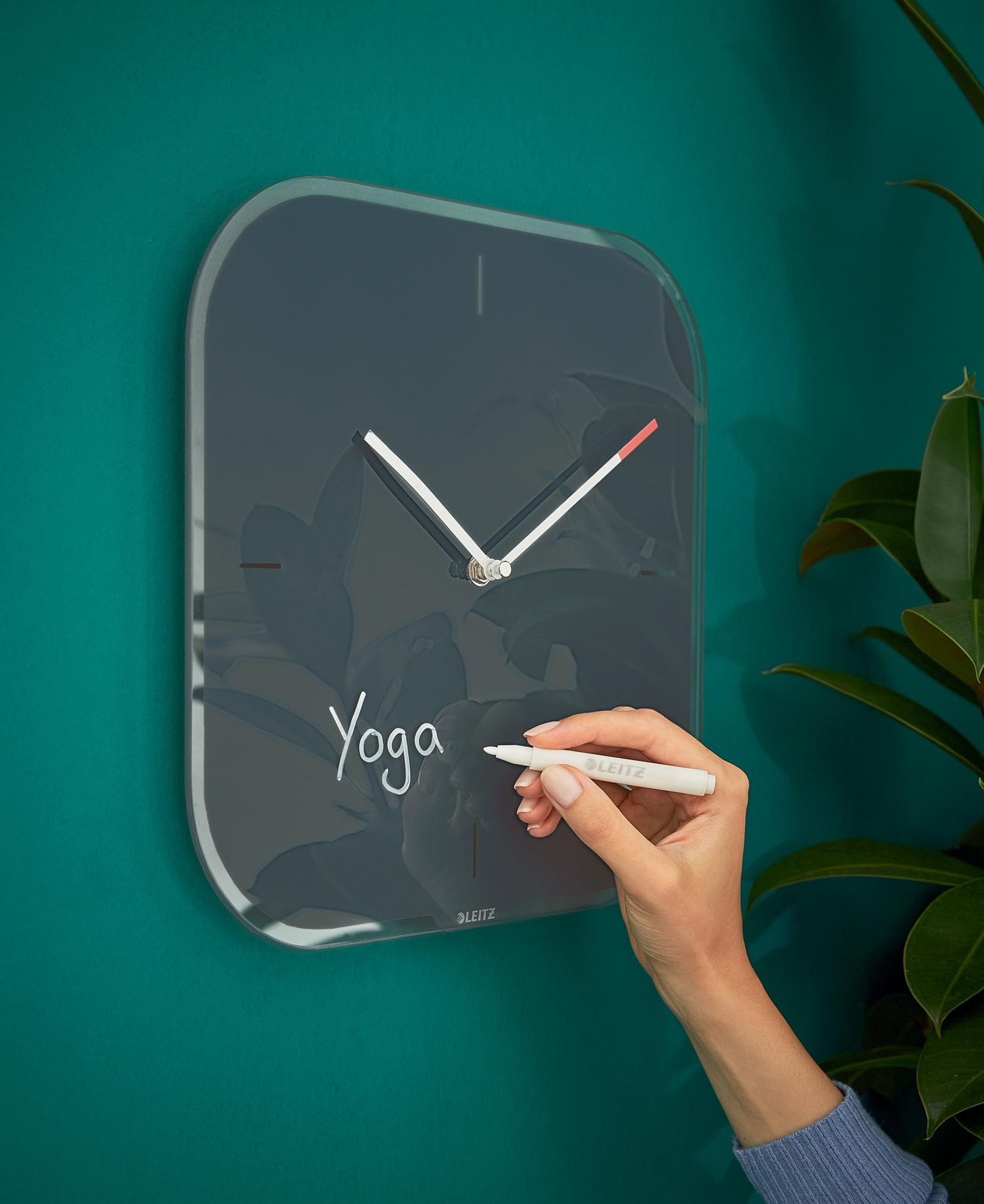 Часы настенные Cosy, квадратные, стекло, серый LEITZ - фото 4