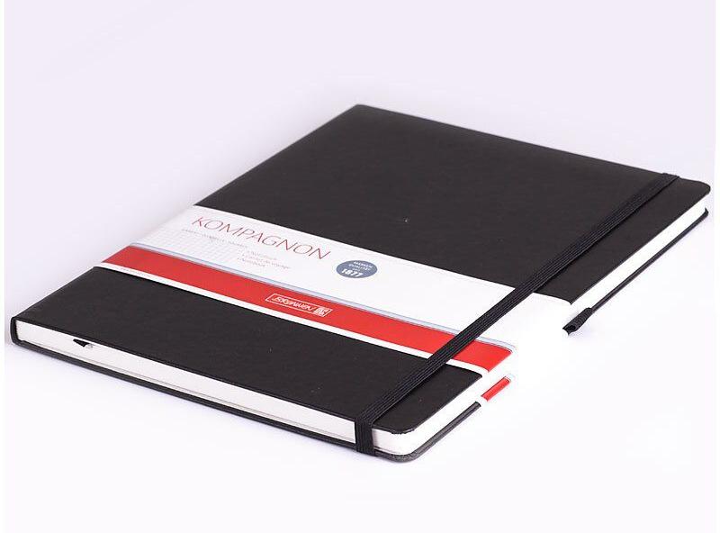 Книга записная А4 Компаньйон, клетка, черн. Brunnen - фото 5