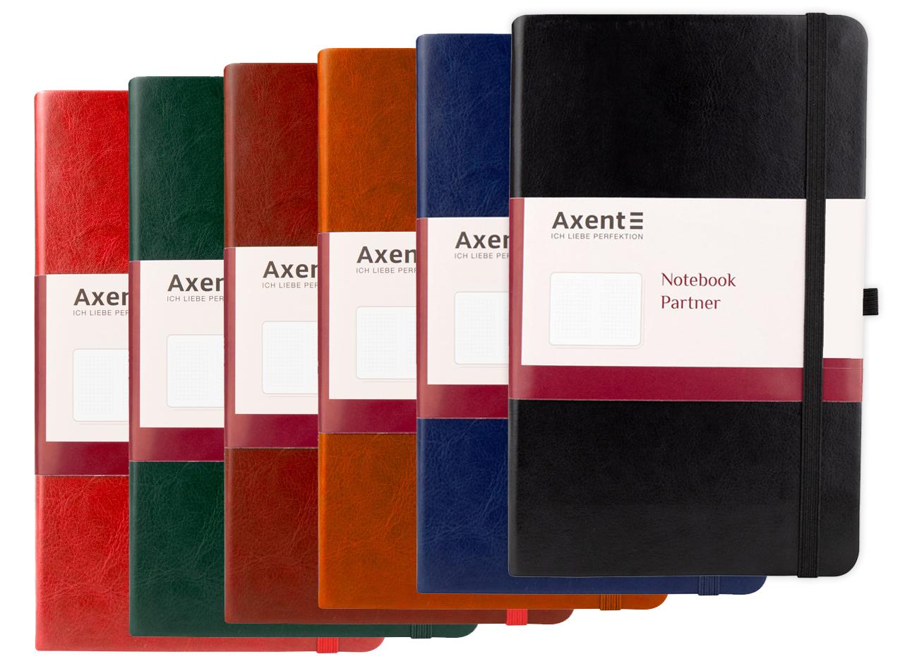 Книга записная Partner Lux А5, 96л., кл., бордо Axent - фото 7