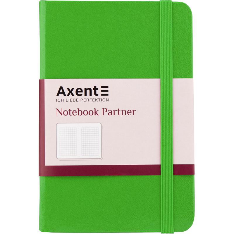Книга записная Partner А6, 96л., кл., салат. Axent - фото 2