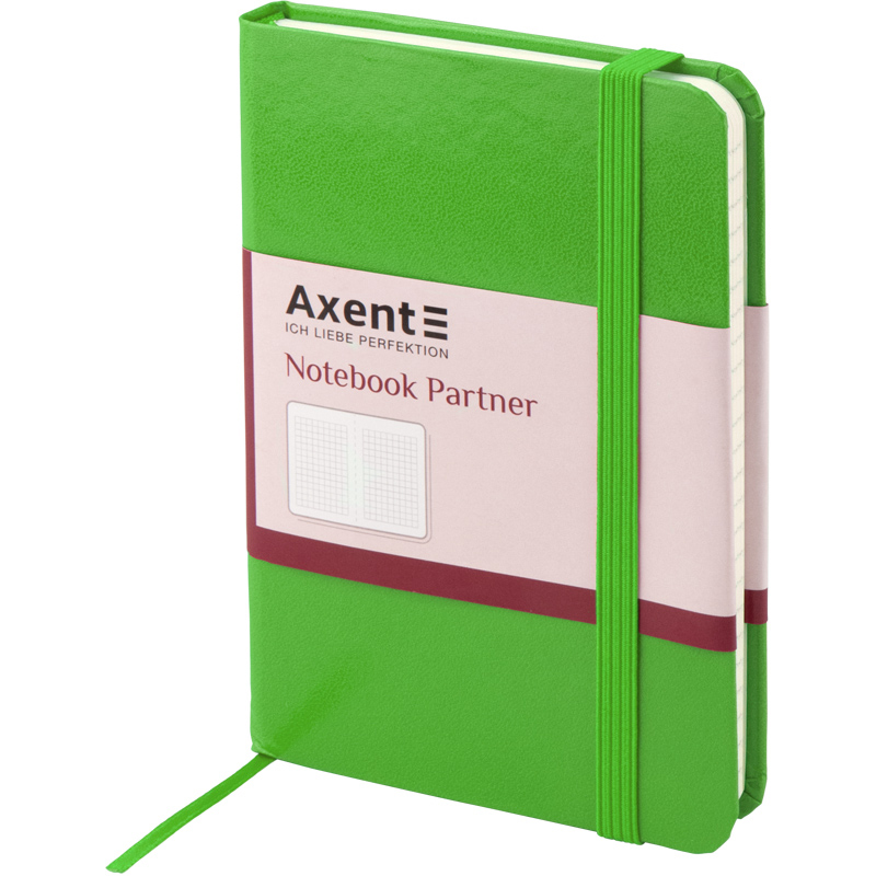 Книга записная Partner А6, 96л., кл., салат. Axent - фото 4