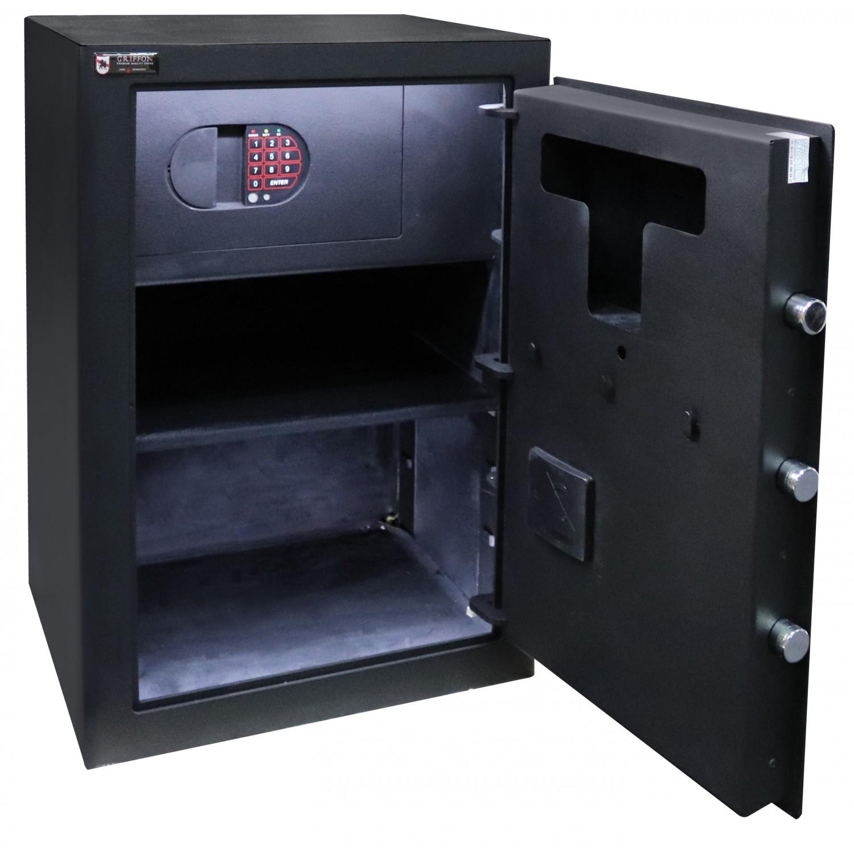 Сейф офисний (600*425*370мм.) биомет.замок у трейзері застосований елек.код.замок M.60.FP BLACK Griffon - фото 2