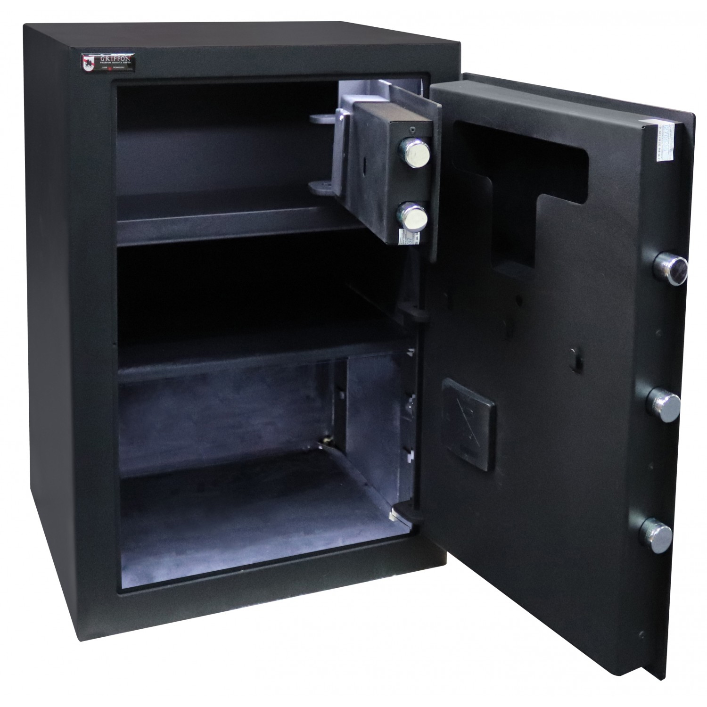 Сейф офисний (600*425*370мм.) биомет.замок у трейзері застосований елек.код.замок M.60.FP BLACK Griffon - фото 3