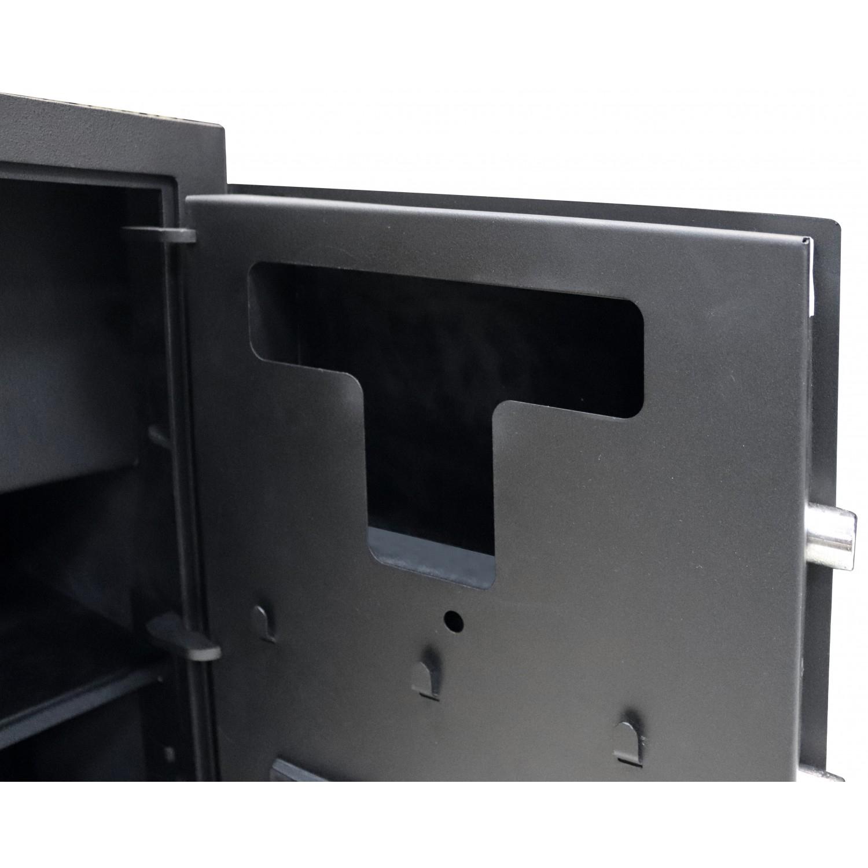 Сейф офисний (600*425*370мм.) биомет.замок у трейзері застосований елек.код.замок M.60.FP BLACK Griffon - фото 4