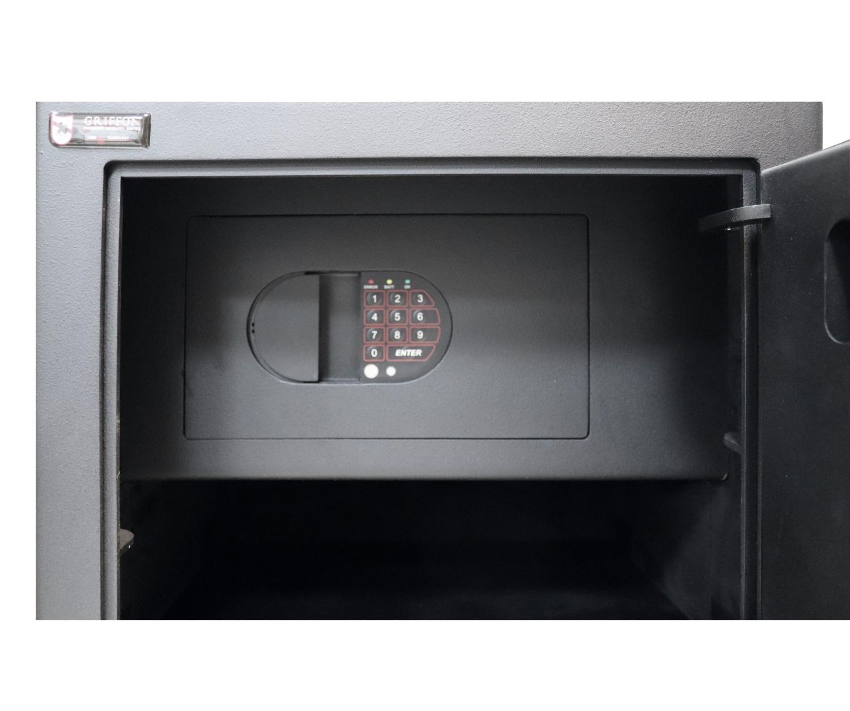Сейф офисний (600*425*370мм.) биомет.замок у трейзері застосований елек.код.замок M.60.FP BLACK Griffon - фото 5