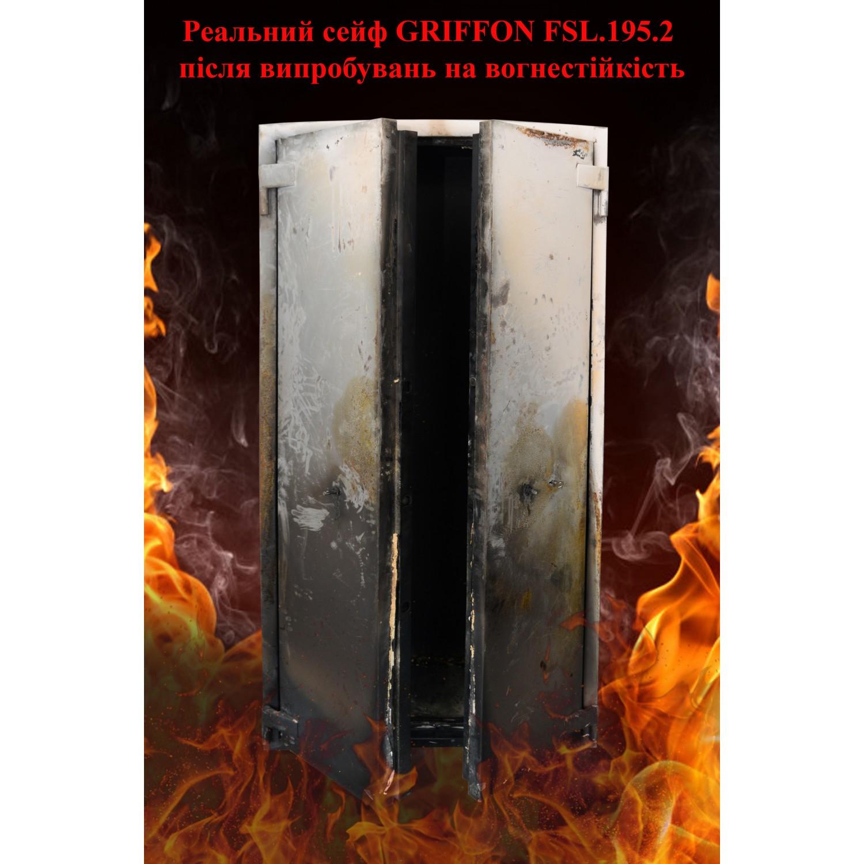 Шкаф огнестойкий с электронным кодовым замком FSL.195.2.E Griffon - фото 2