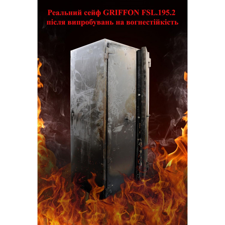 Шкаф огнестойкий с электронным кодовым замком FSL.195.2.E Griffon - фото 3