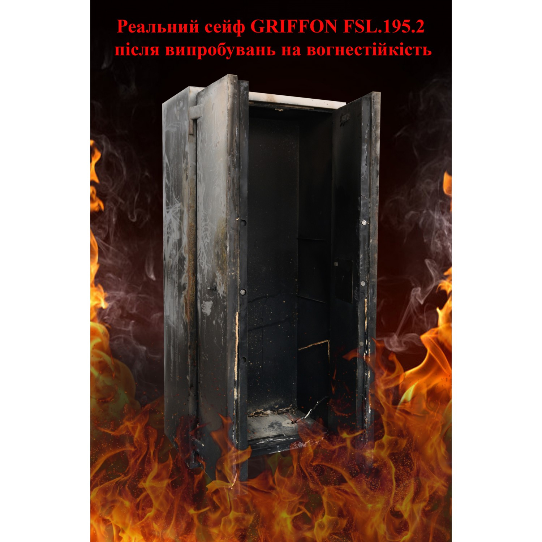 Шкаф огнестойкий с электронным кодовым замком FSL.195.2.E Griffon - фото 4