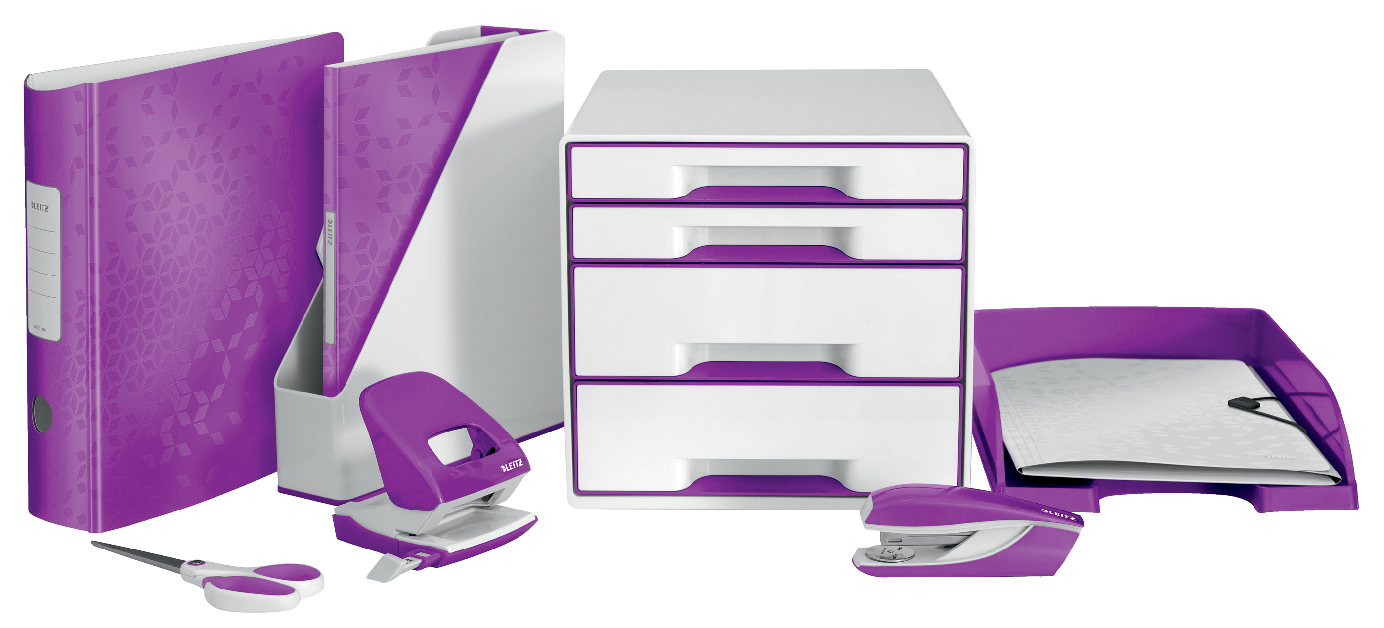 Лоток горизонтальный Wow, метал., пурпур. LEITZ - фото 4