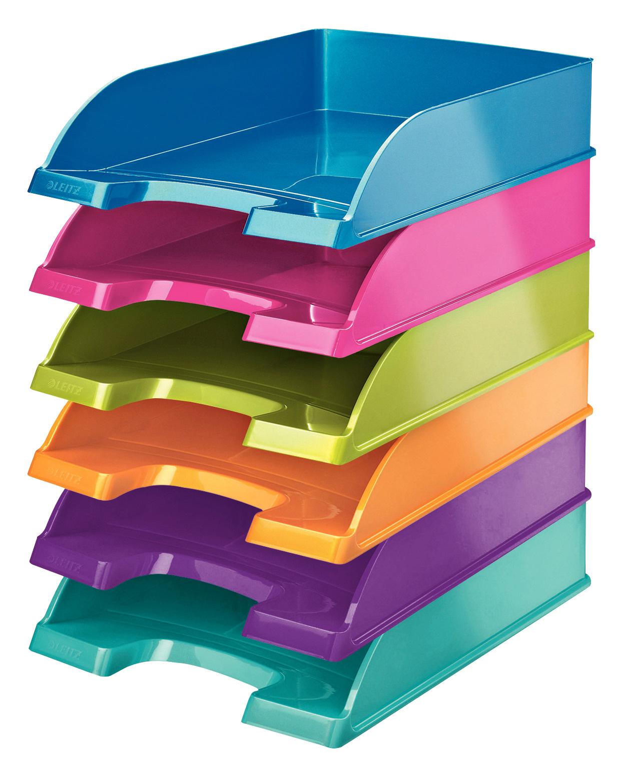 Лоток горизонтальный Wow, метал., пурпур. LEITZ - фото 6