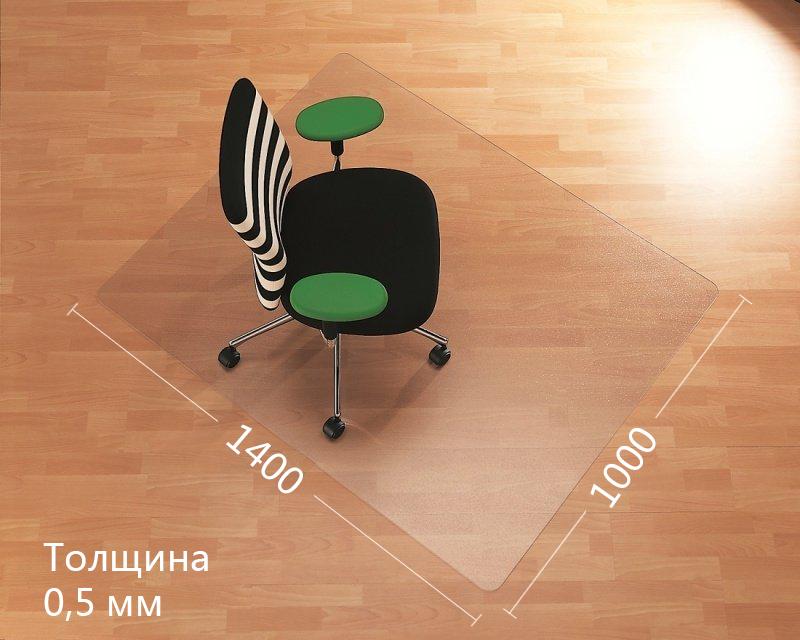Коврик под кресло защитный, 1400*1000*0,5мм., Полипропилен, прозр. Украина - фото 3