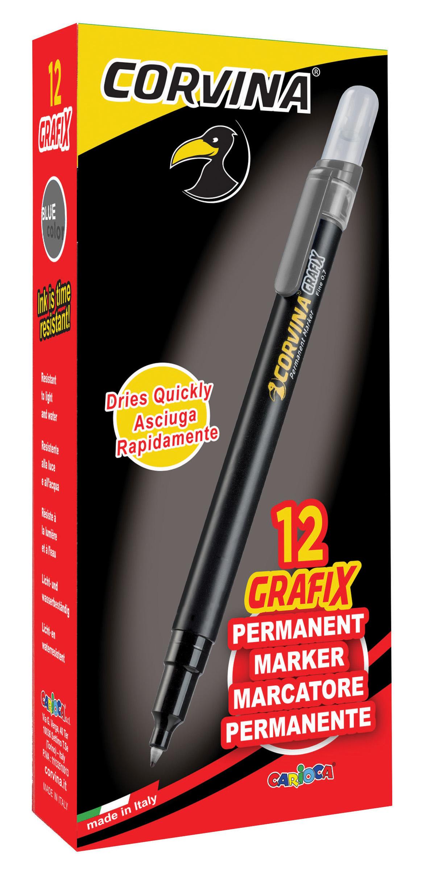 Маркер перманентный 0,7мм. Grafix, черн.