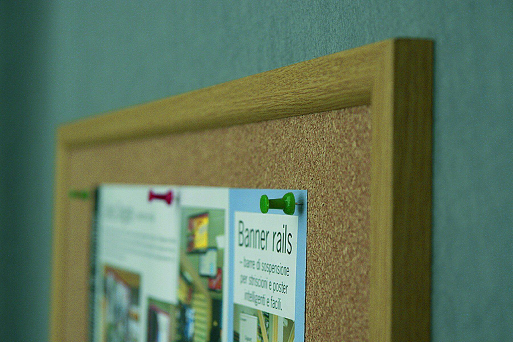Доска пробковая (сосна) 60*80см., деревянная рамка 2x3 - фото 2