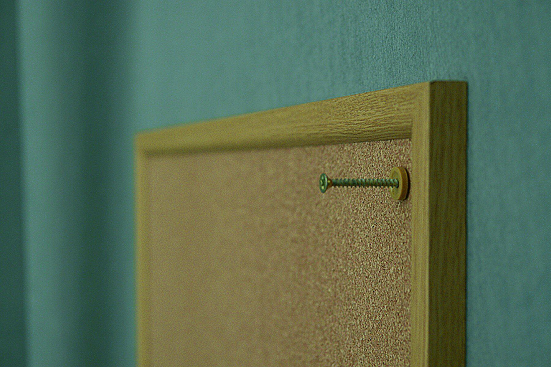 Доска пробковая (сосна) 60*80см., деревянная рамка 2x3 - фото 3