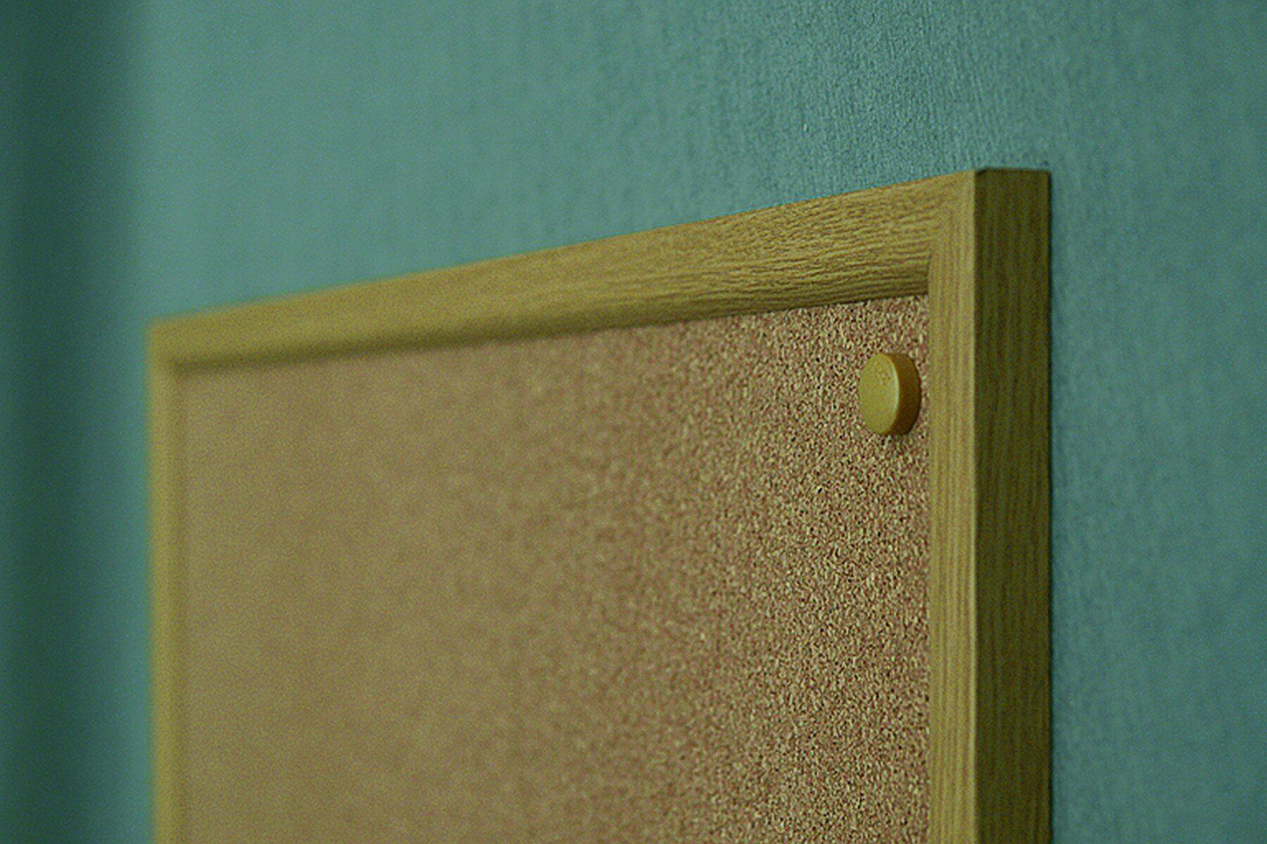 Доска пробковая (сосна) 60*80см., деревянная рамка 2x3 - фото 4