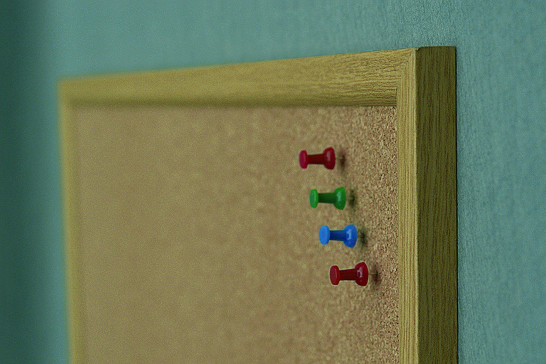 Доска пробковая (сосна) 60*80см., деревянная рамка 2x3 - фото 5