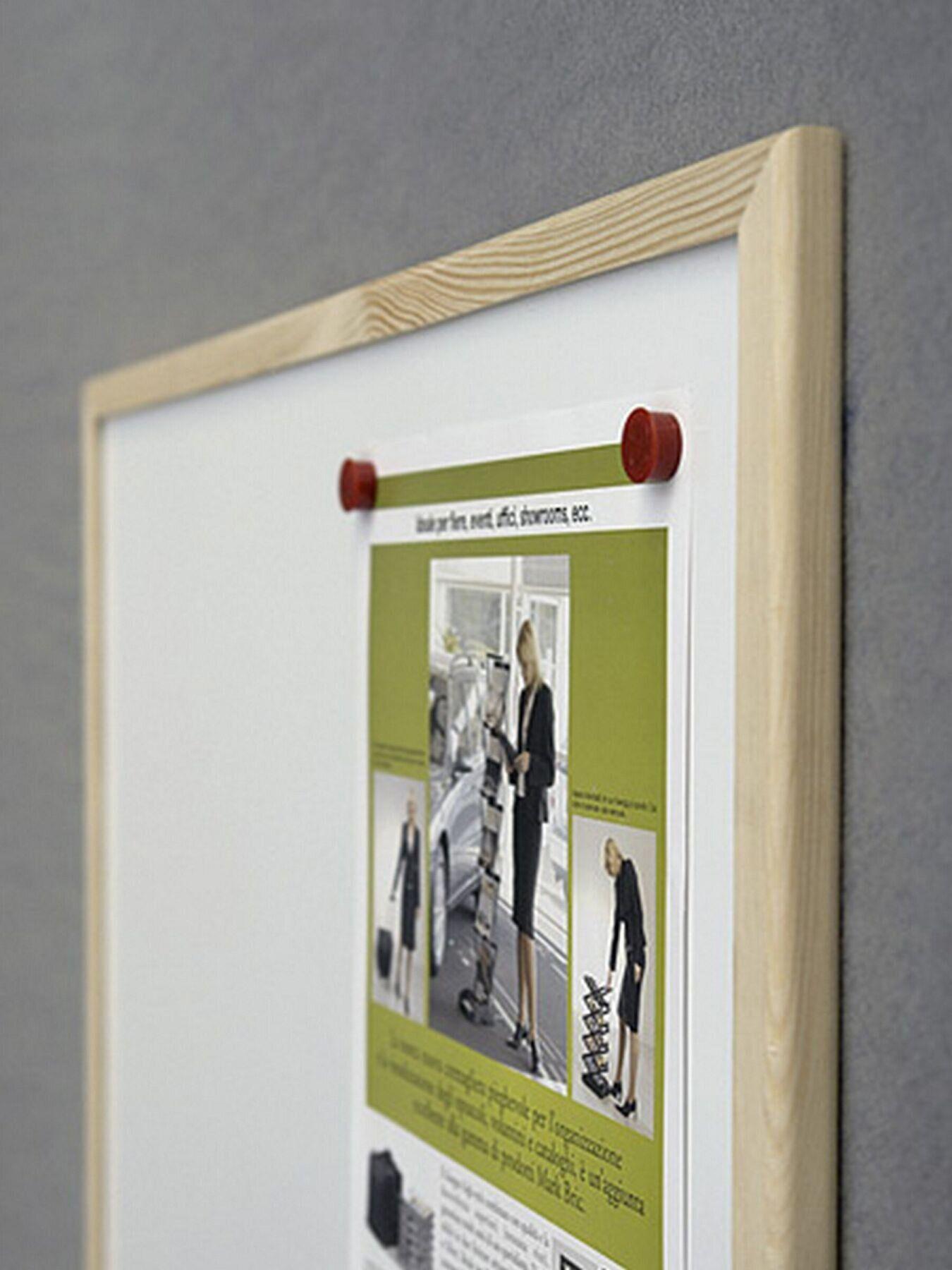 Доска белая магнитная сухостираемая (сосна) 80*120см., дерев. рамка, 2x3 - фото 2