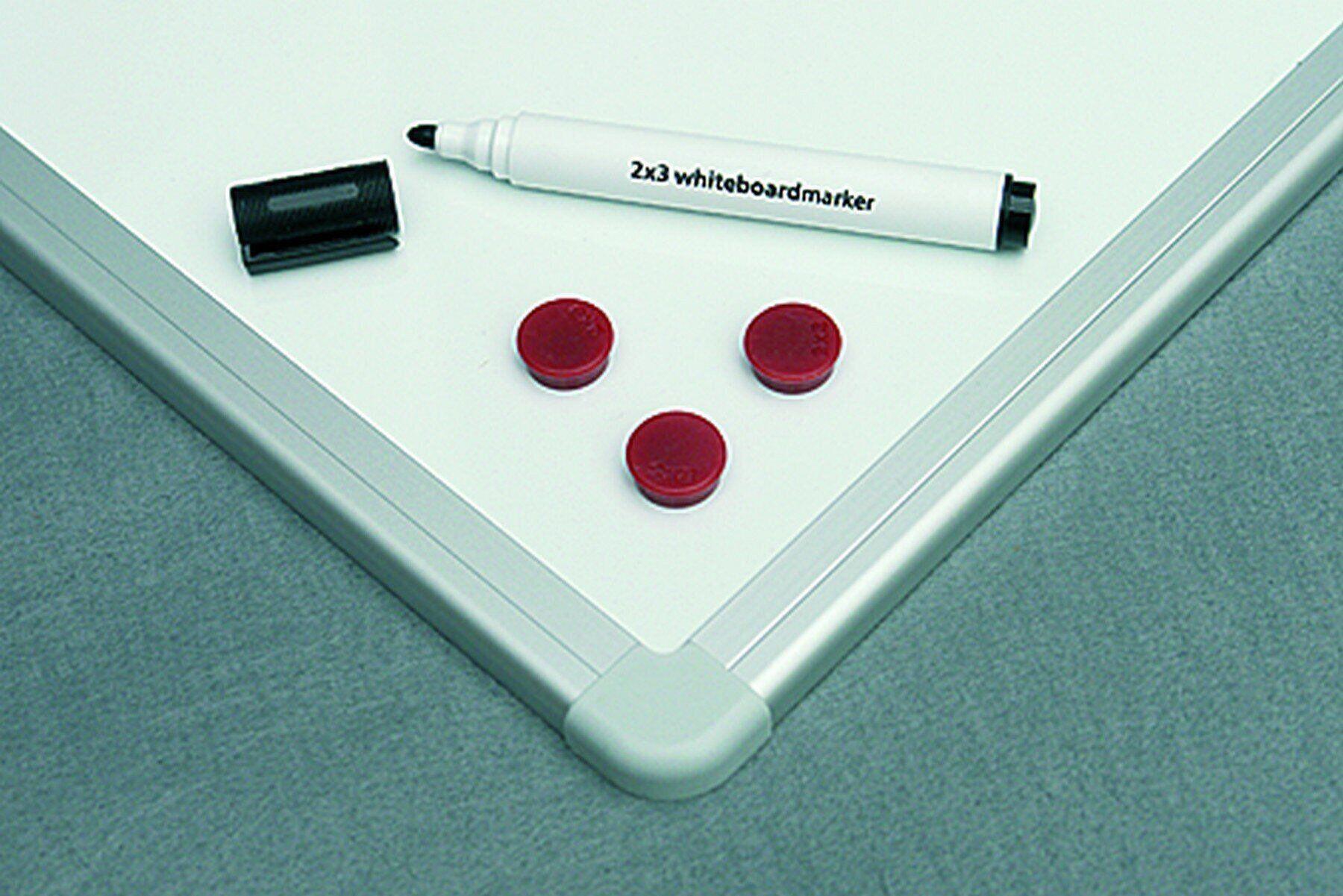 Доска белая магнитная сухостираемая ALU23 90*120см., алюминиевая рамка, лак 2x3 - фото 6