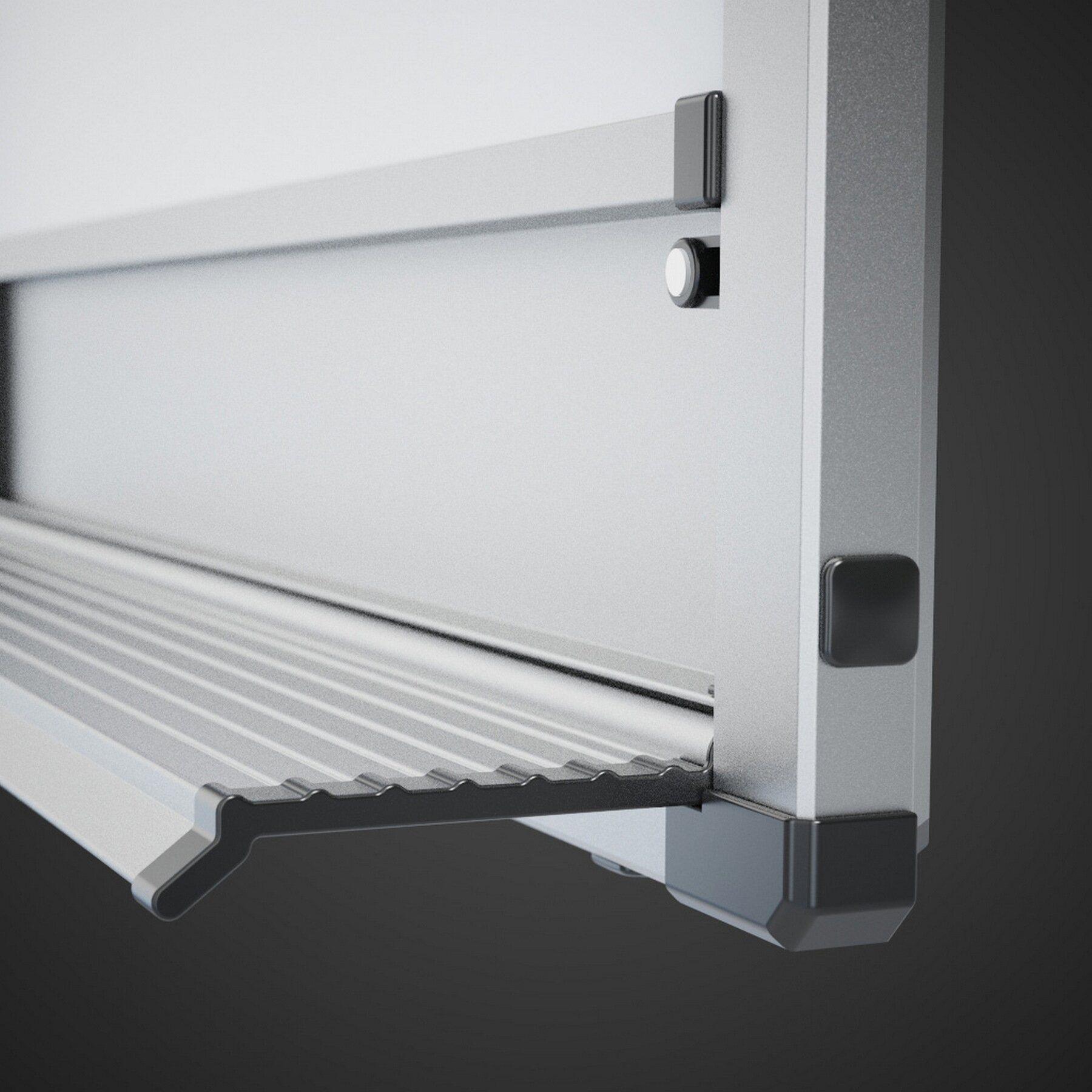 Доска белая магнитная сухостираемая StarBoard 120*180см., алюминиевая рамка, лак 2x3 - фото 2