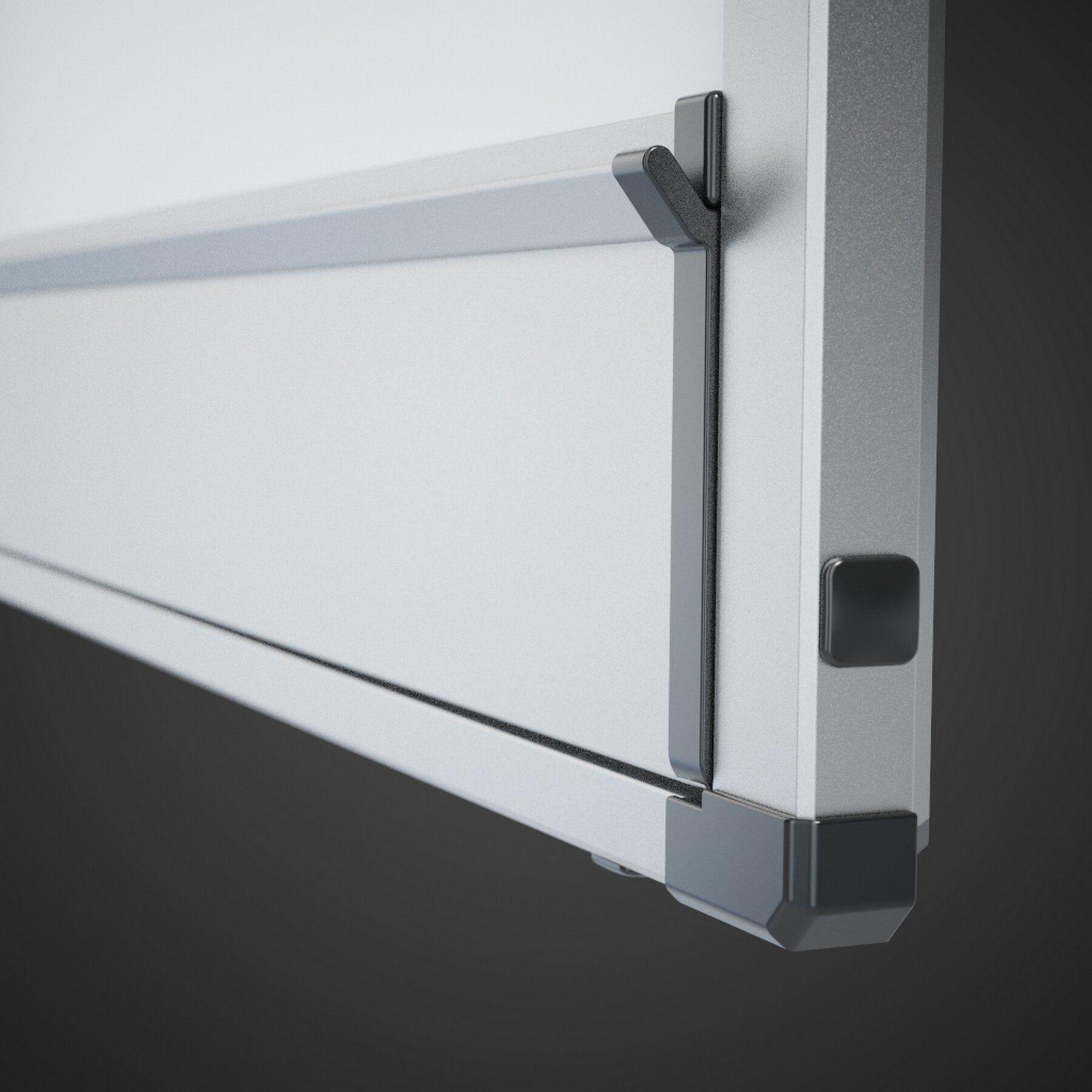 Доска белая магнитная сухостираемая StarBoard 90*120см., алюминиевая рамка, лак 2x3 - фото 3