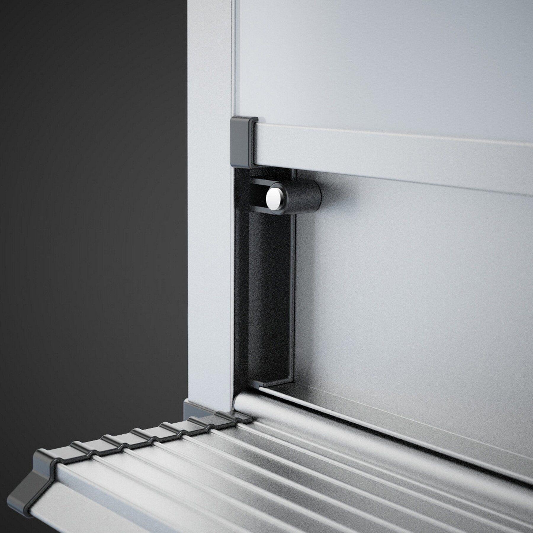 Доска белая магнитная сухостираемая StarBoard 90*120см., алюминиевая рамка, лак 2x3 - фото 4