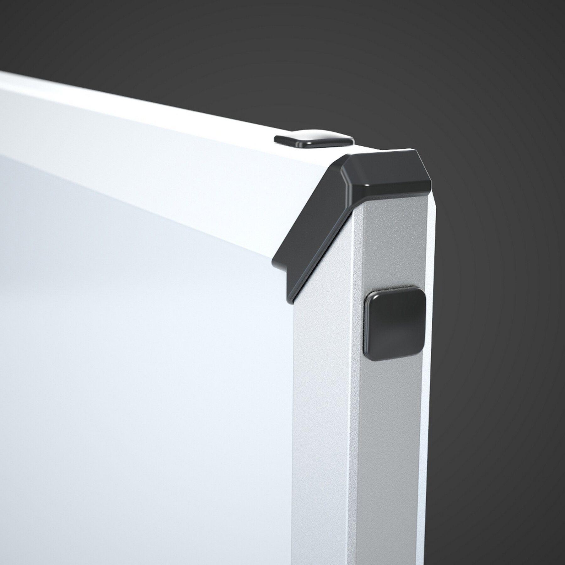Доска белая магнитная сухостираемая StarBoard 90*120см., алюминиевая рамка, лак 2x3 - фото 5