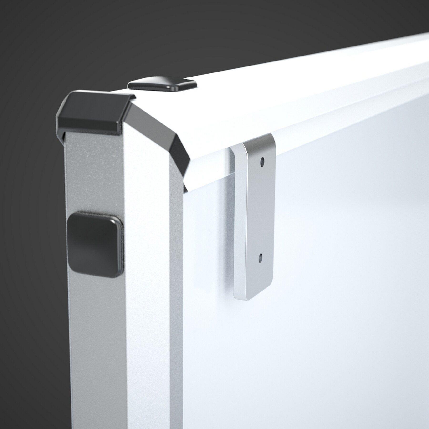 Доска белая магнитная сухостираемая StarBoard 90*120см., алюминиевая рамка, лак 2x3 - фото 6