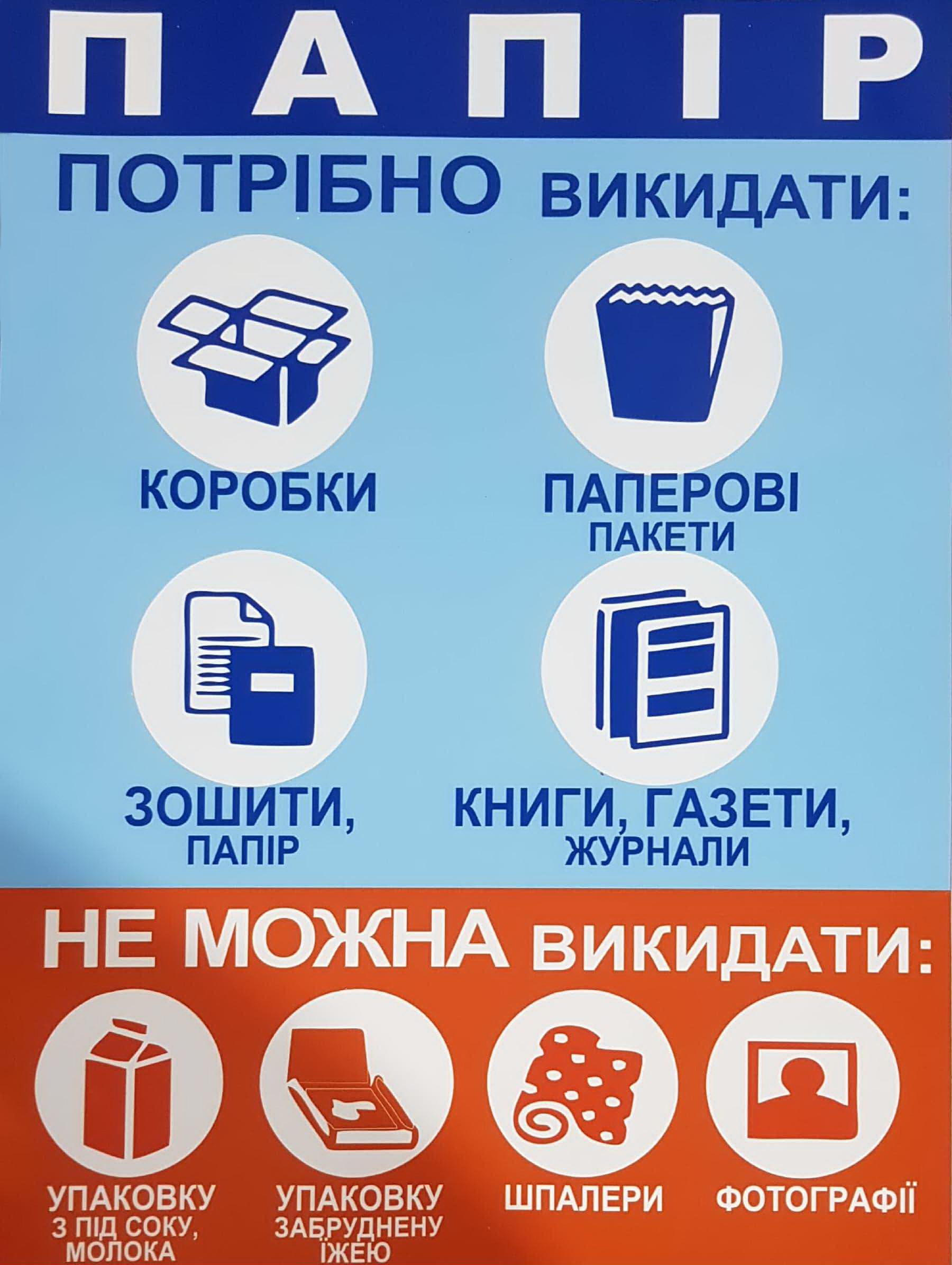 Наклейка Информационная ''Бумага