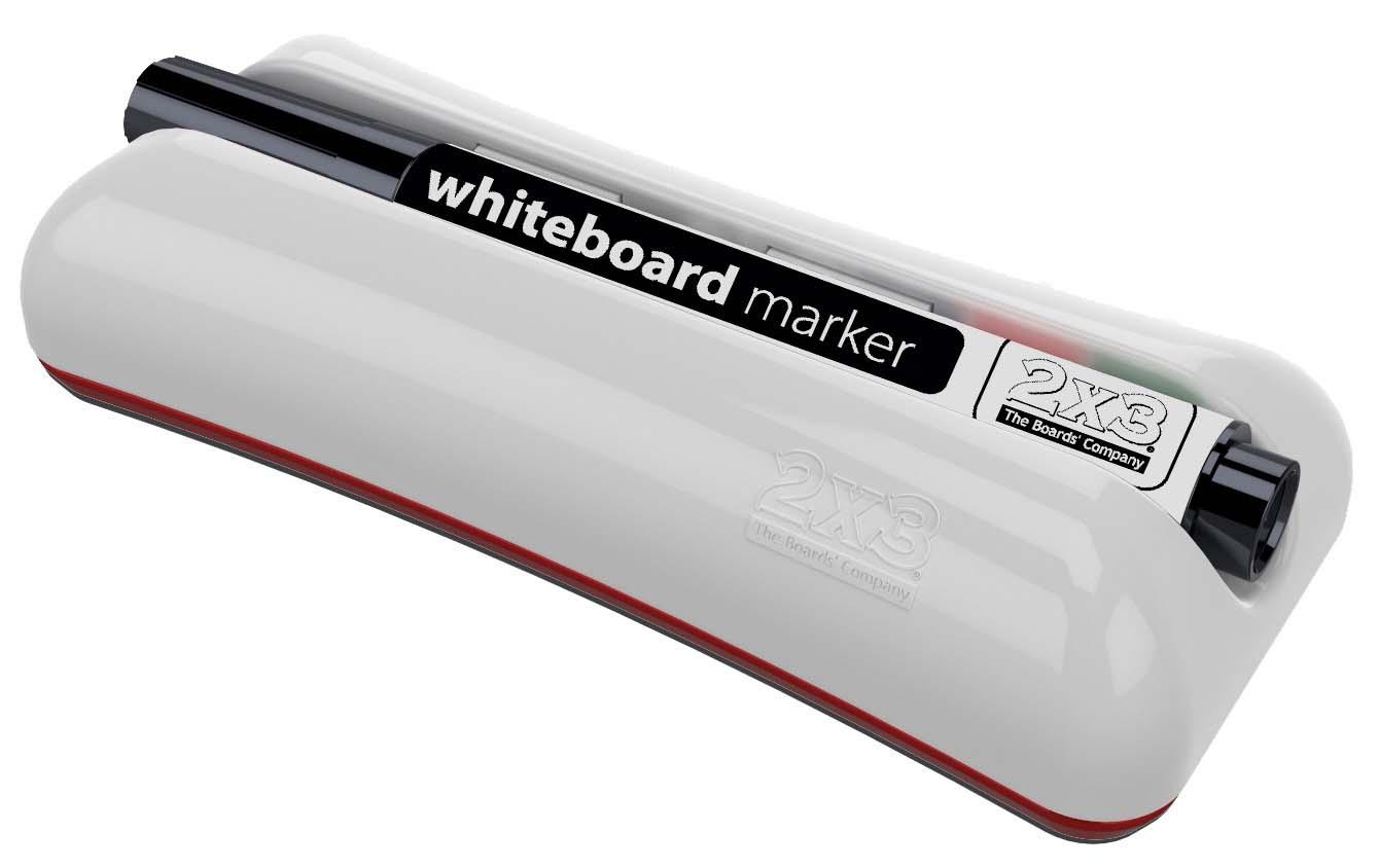 Губка для доски на магните Duo с маркером, войлочные вкладыши 2x3 - фото 2