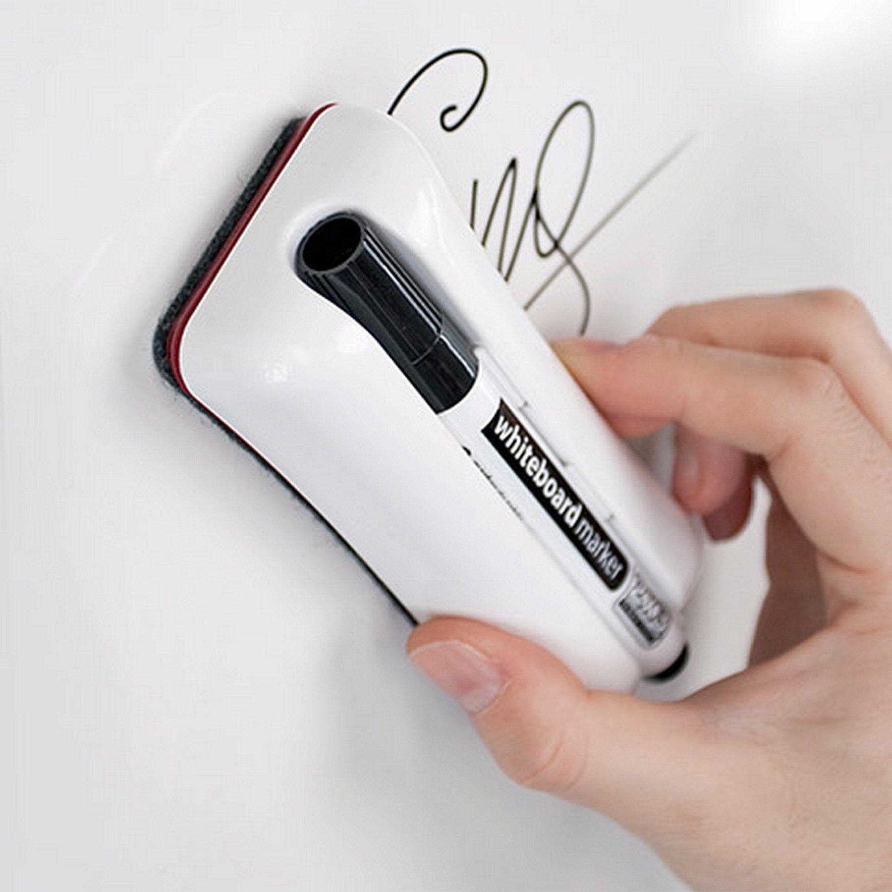 Губка для доски на магните Duo с маркером, войлочные вкладыши 2x3 - фото 3