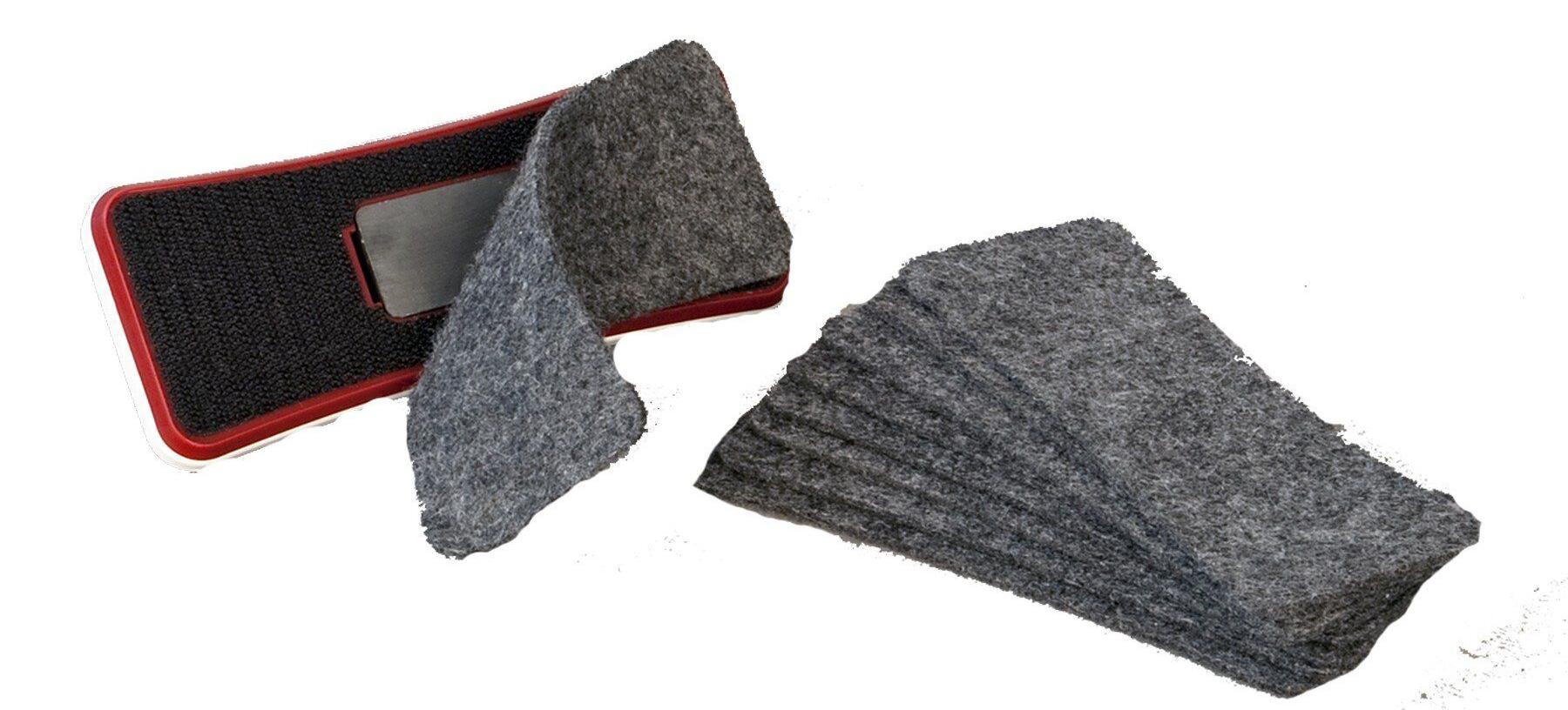 Губка для доски на магните Slim, войлочные вкладыши 2x3 - фото 5