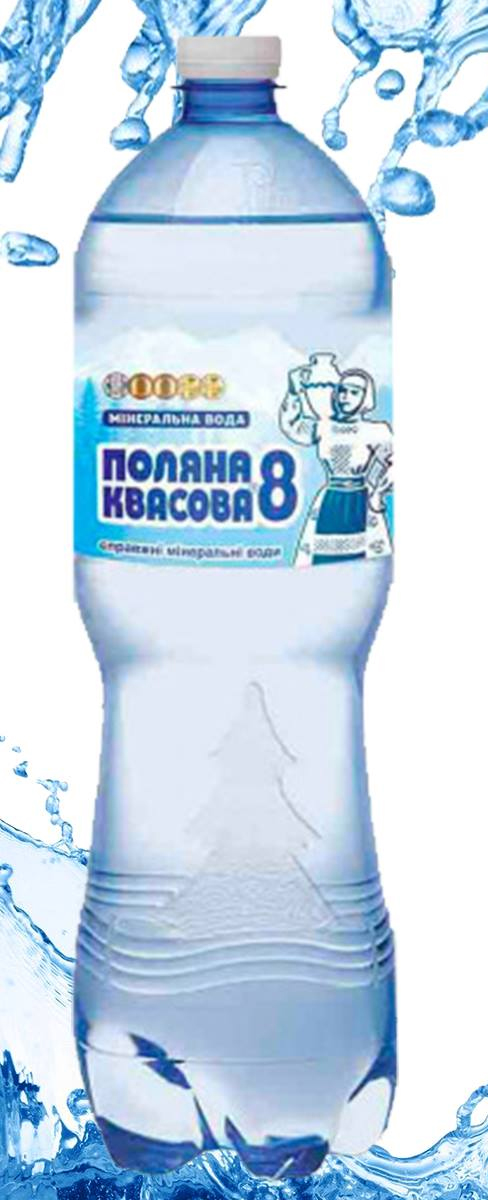 Вода минеральная газированная 1,5л., 6шт./уп., пластиковая бутылка