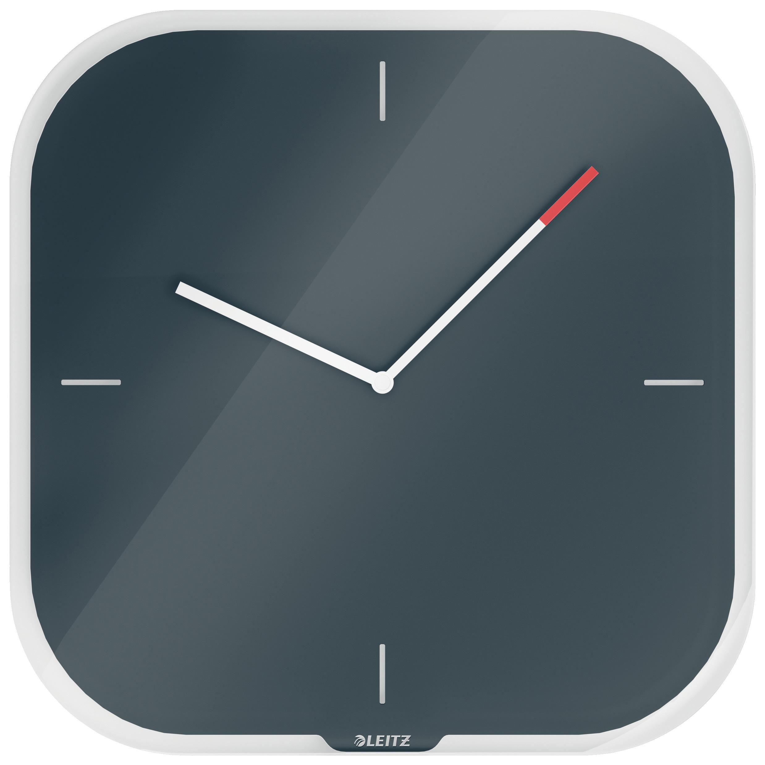 Часы настенные Cosy, квадратные, стекло, серый