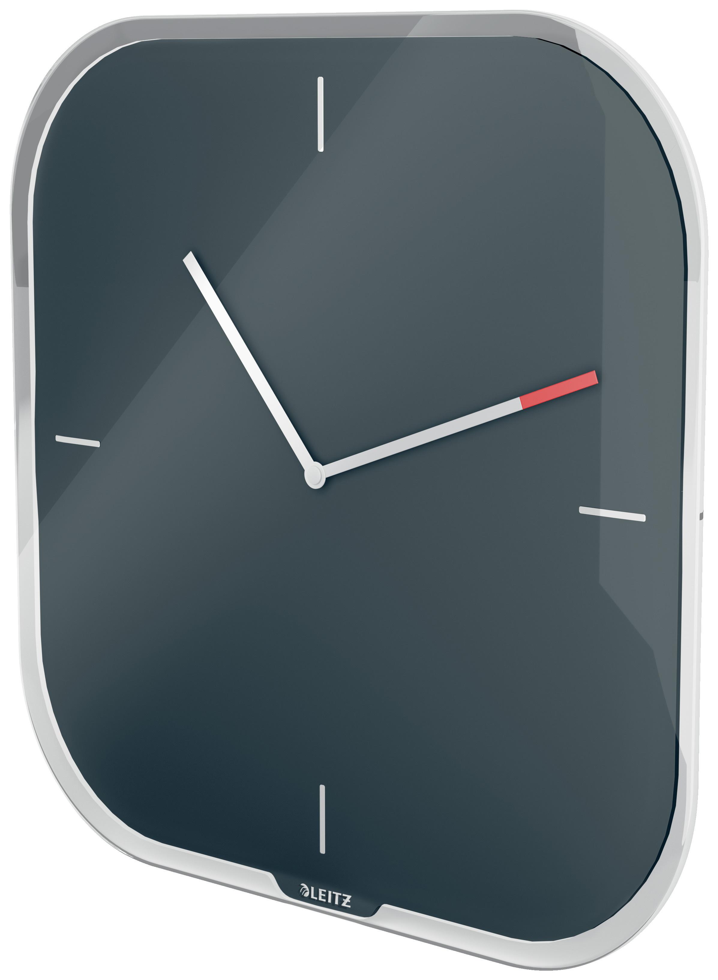 Часы настенные Cosy, квадратные, стекло, серый LEITZ - фото 6