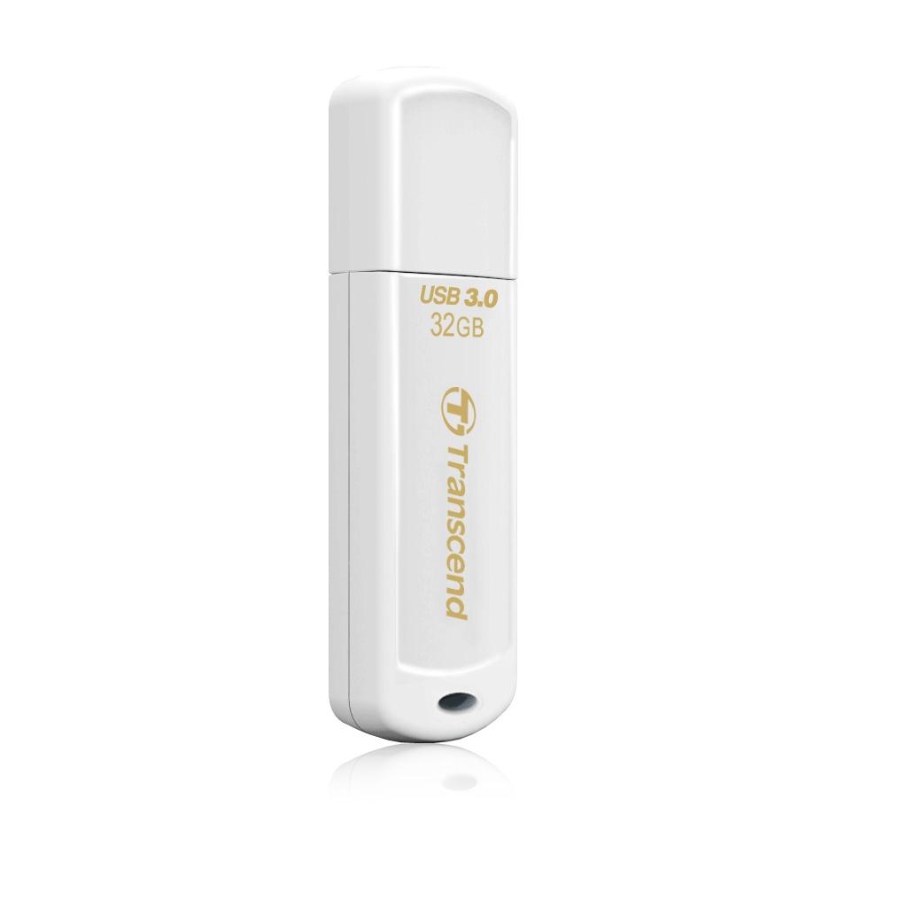 Флеш-память USB 3.0 Flash Drive 32Gb JetFlash 730 моноблок, пластик, корпус бел. TRANSCEND - фото 2