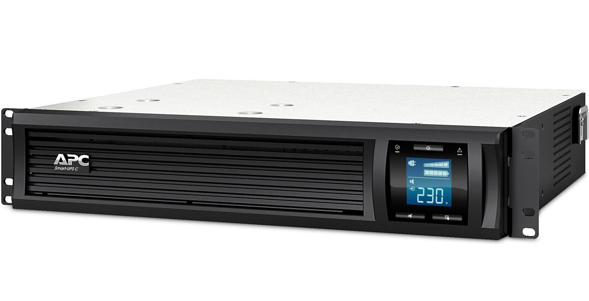 Источник бесперебойного питания (ИБП) APC SMART-UPS C RM, 3000VA, USB (SMC3000RMI2U)