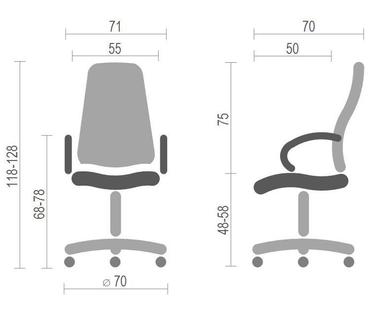 Кресло для руководителя Атлант CH ANF (XY-7147-1), черн. АКЛАС - фото 4