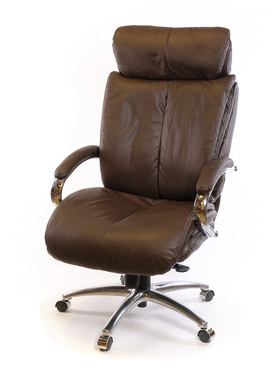 Кресло для руководителя Аризона Soft CH MB, коричн. АКЛАС - фото 1